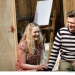 Hay Fever - Rehearsals: Amy Morgan, and Sam Callis