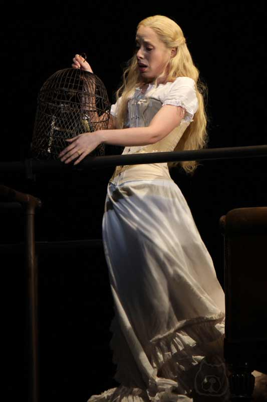 Rebecca Bottone in Sweeney Todd at the Théâtre du Châtelet, Paris