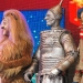 David Ganley as Lion, Edward Baker-Duly as Tin Man and Paul Keating as Scarecrow, The Wizard of Oz at the London Palladium